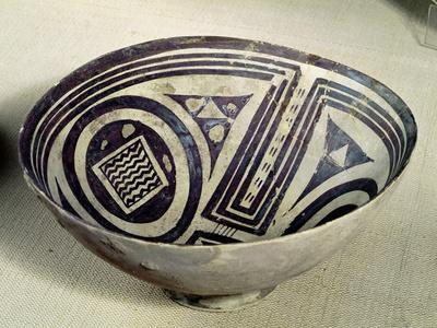 Bowl Decorated with a Geometric Pattern, Style I, from Susa, Iran, 3100-3000 BC