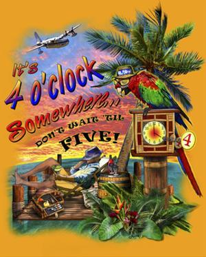 Tropical Vibes 4 Oclock Somewhere by Messina Graphix