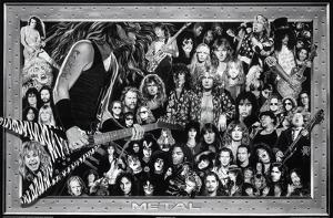 Metal (Heavy Metal Collage) Music Poster Print