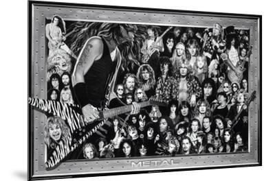 Metal (Heavy Metal Collage) Music Poster Print