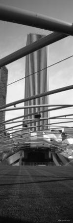 Metal Structure, Pritzker Pavilion, Millennium Park, Chicago, Illinois, USA