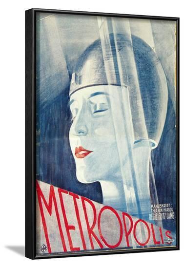 Metropolis, German Movie Poster, 1926--Framed Art Print