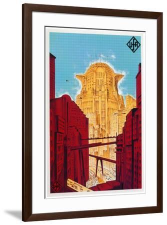 Metropolis - German Style--Framed Poster