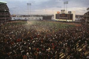 Mets Fans Bombarding the Field