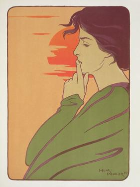 The Hour of Silence, 1897, from 'L'Estampe Moderne', Published Paris 1897-99 by Meunier