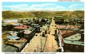 Mexican Border at Nogales, Arizona