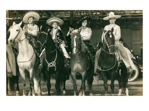 Mexican Charros on Horses