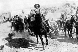 Mexican General Pancho Villa Riding with His Men after Victory at Torreon