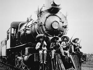 Mexican Revolutionaries Take over a Locomotive at Cuernavaca, Morelos