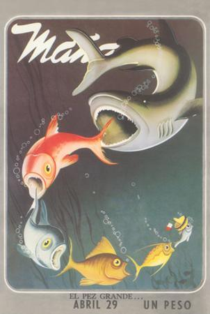 Mexican Travel Poster, Big Fish