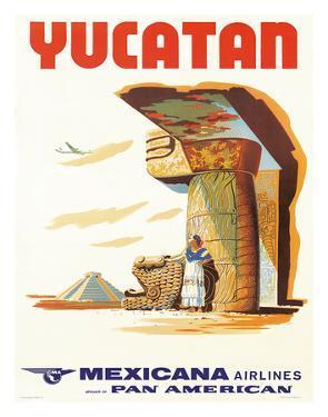 Mexicana Airlines via Pan American: Yucatan, c.1960s