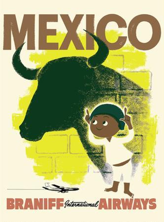 Mexico - Bull and Boy Matador - Braniff International Airways