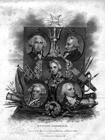 A Seletion of British Admirals, 1816
