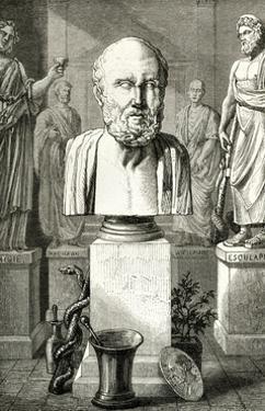 Hippocrates, Louvre Bust by Meyer Heine