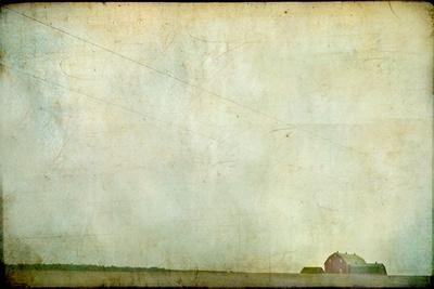 Barren Field with Red Barn