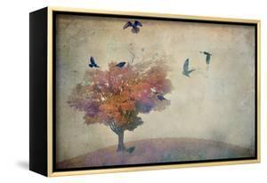 Oversized Crows Flying from Tree by Mia Friedrich