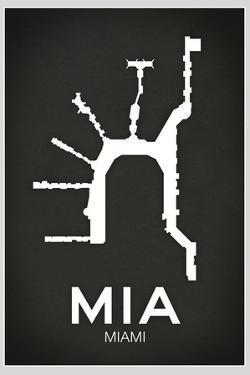 MIA Miami Airport Plastic Sign