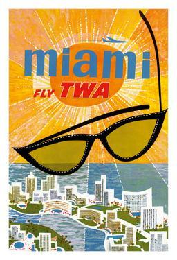Miami, Florida - Trans World Airlines Fly TWA