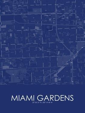 Miami Gardens, United States of America Blue Map