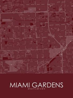 Miami Gardens, United States of America Red Map