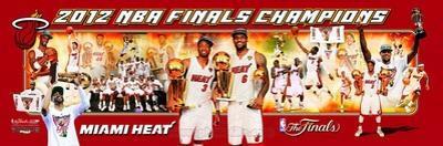 Miami Heat - LeBron James, Dwyane Wade, Chris Bosh Panoramic Photo