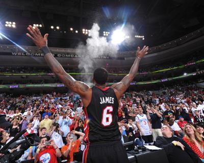 Miami Heat v Philadelphia 76ers - Game Four, Philadelphia, PA - April 24: LeBron James