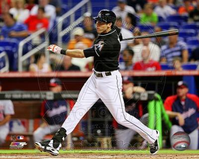 Miami Marlins Christian Yelich 2013 Action