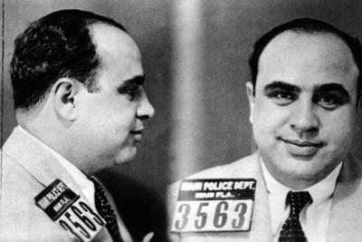 Miami Police Department Mug Shot of Al Capone, 1930