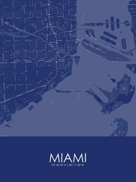 Miami, United States of America Blue Map