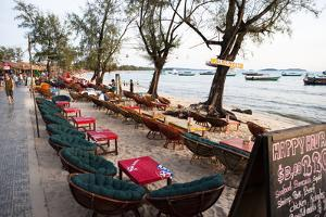Bars and Restaurants Along Serendipity Beach, Sihanoukville, Cambodia by Micah Wright
