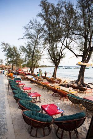 Bars and Restaurants Along Serendipity Beach, Sihanoukville, Cambodia