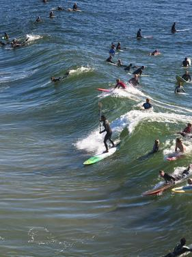 Memorial Paddle Out in Remembrance for Professional Surfer Andy Irons, Huntington Beach, Usa by Micah Wright