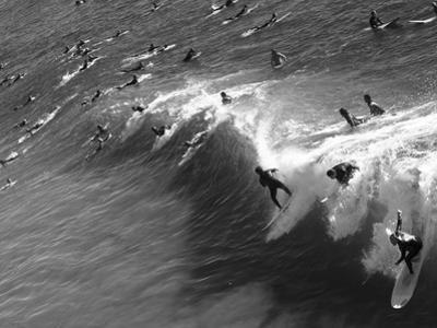 Memorial Paddle Out in Remembrance for Professional Surfer Andy Irons, Huntington Beach, Usa