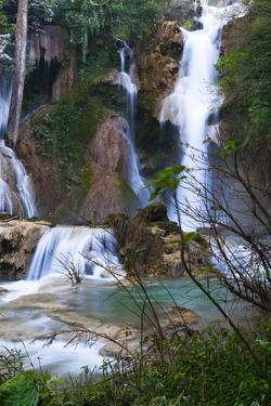 The Kuang Si Waterfalls Just Outside of Luang Prabang, Laos by Micah Wright