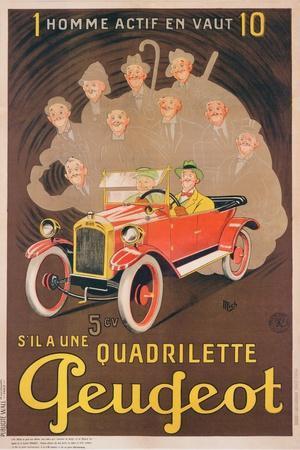 Advertisement for Peugeot, c.1910