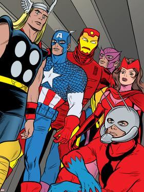 X-Statix No.21 Group: Ant-Man, Captain America, Thor, Iron Man, Scarlet Witch, Hawkeye and Avengers by Michael Allred