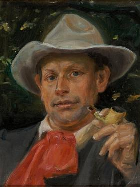 Portrait of Martin Andersen Nexo by Michael Ancher