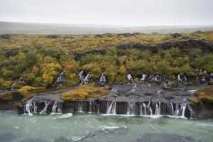 Barnafoss, Springs and Children's Falls, Iceland, Polar Regions by Michael