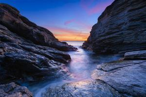 Between the Rocks by Michael Blanchette Photography