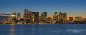 Boston Skyline - Panorama by Michael Blanchette Photography