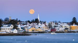 Coastal Moon by Michael Blanchette Photography