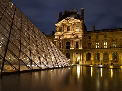 Ornate Glass and Masonry at the Louvre