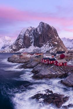 Red Cabins - Vertical by Michael Blanchette Photography