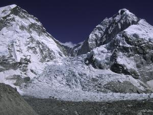 Base Camp and Khumbu Ice Fall by Michael Brown