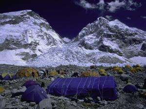 Base Camp at Lhotse, Southside of Everest, Nepal by Michael Brown