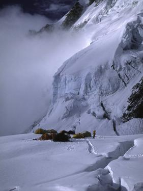 Camp One on the Southside of Everest, Nepal by Michael Brown