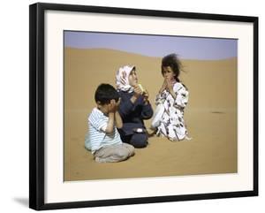 Children in Desert, Morocco by Michael Brown