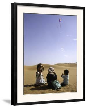Children with Kite, Morocco by Michael Brown