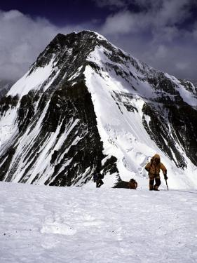 Climbers Nesr the High Camp at the North Col of Everest by Michael Brown