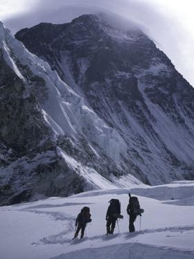 Climbing Towards Mountain Halo, Everest by Michael Brown